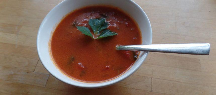Tomatenroomsoep met selderij