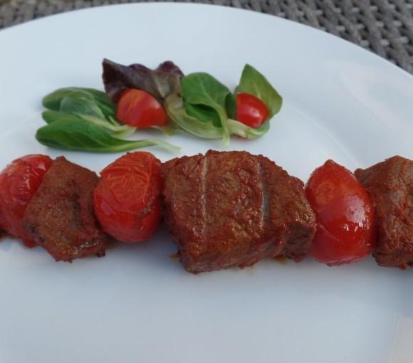 Biefstukspies met tomaat fodmap