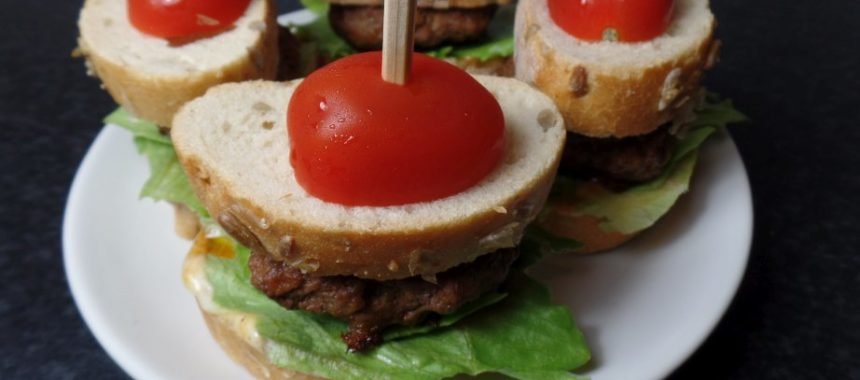 Minibroodje hamburger