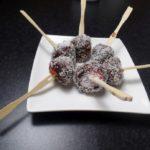 Aardbeispiesje met chocolade en kokos