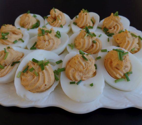 Gevulde eieren met bieslook