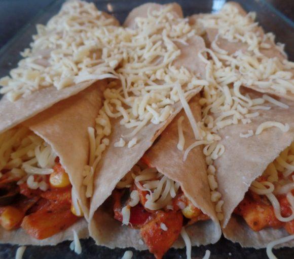 Zelfgemaakte tortilla's met kip fodmap