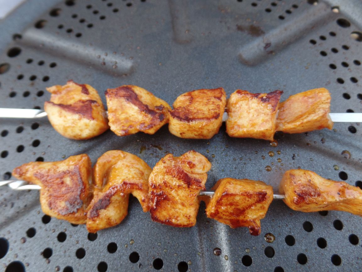Kipspiesjes voor op de barbecue fodmap