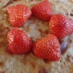 Pannenkoekjes met aardbeien