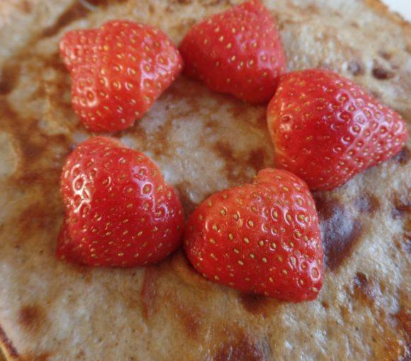 Pannenkoekjes met aardbeien fodmap
