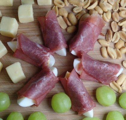 Eihapjes met runderrookvlees