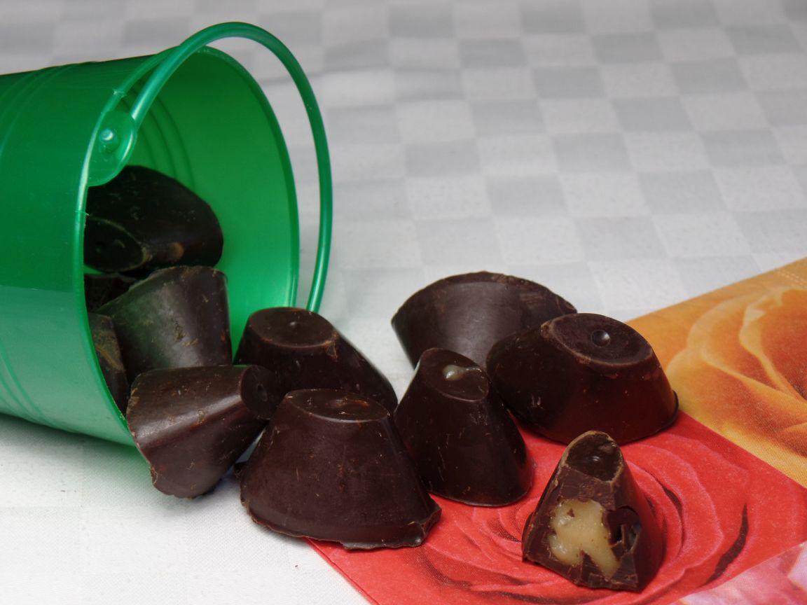 Bonbons met gezouten karamelfudge